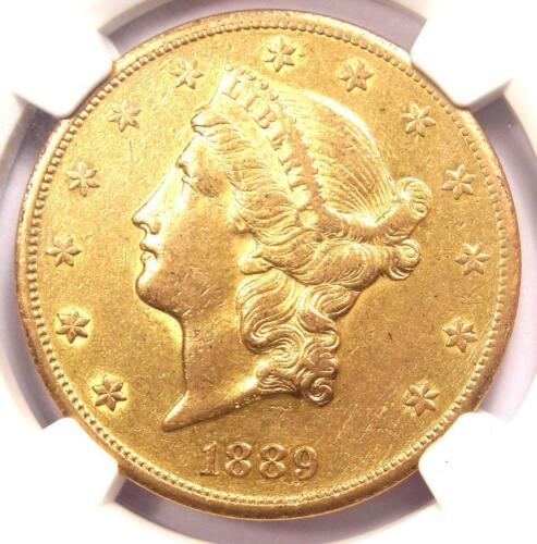 1889-CC Liberty Gold Double Eagle $20 - NGC AU Details - Rare Carson City Coin!