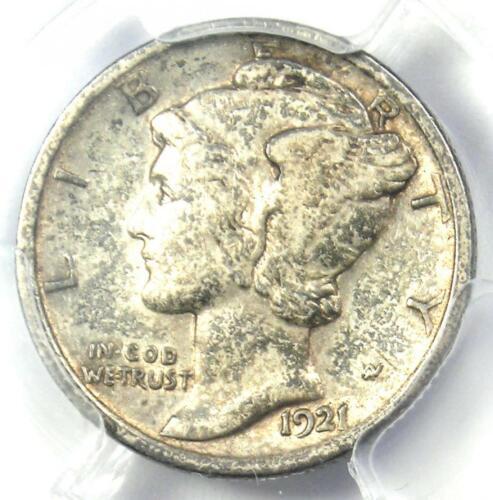 1921 Mercury Dime 10C Coin - Certified PCGS VF30 - Rare Key Date!