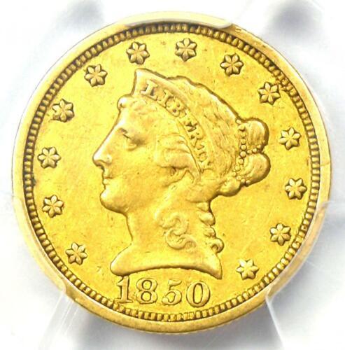 1850-C Liberty Gold Quarter Eagle $2.50 - PCGS VF Details - Rare Charlotte Coin!