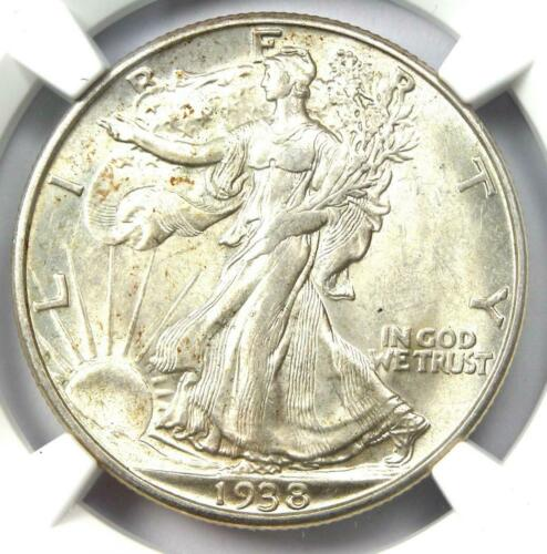 1938-D Walking Liberty Half Dollar 50C - NGC AU58 - Rare Date - Looks MS/UNC!