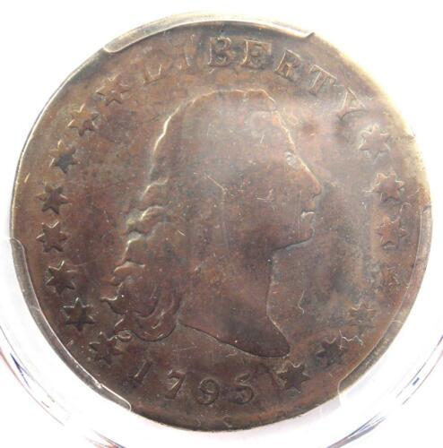 1795 Flowing Hair Silver Dollar ($1 Coin) - PCGS VG Detail (Plugged) - Rare Coin