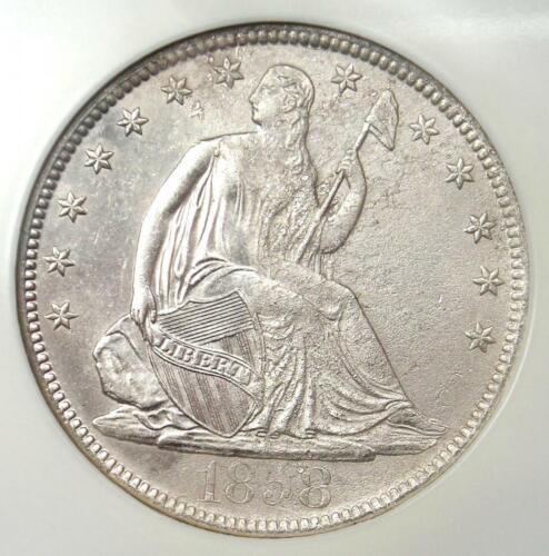 1858-O Seated Liberty Half Dollar 50C - NGC Certified - SS Republic Shipwreck!