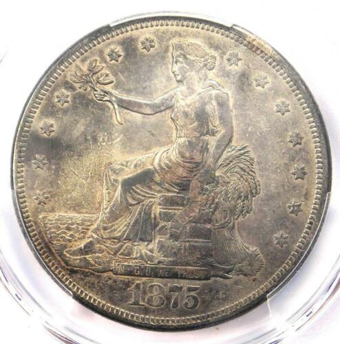 1875-CC Trade Silver Dollar T$1 - PCGS XF Details (EF) - Rare Carson City Coin!