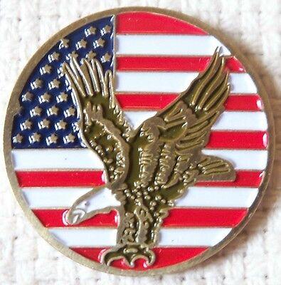 Premium American Eagle USA Flag Golf Ball Marker + Bonus
