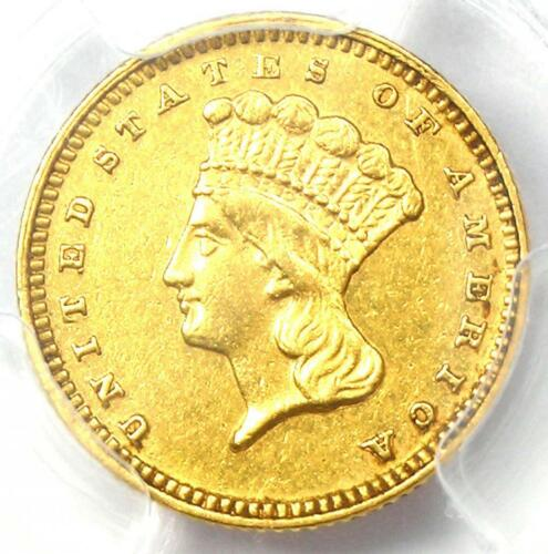 1878 Indian Gold Dollar (G$1 Coin) - Certified PCGS AU Details - Rare Date!