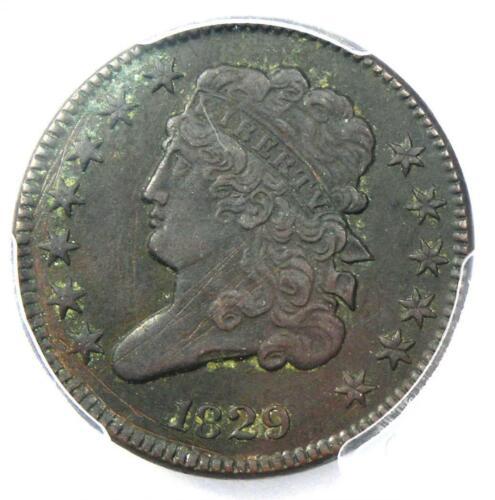1829 Classic Head Half Cent 1/2C - PCGS AU Details - Rare Certified Coin!