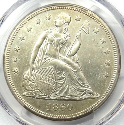 1860-O Seated Liberty Silver Dollar $1 - PCGS Uncirculated Detail (UNC MS). Rare