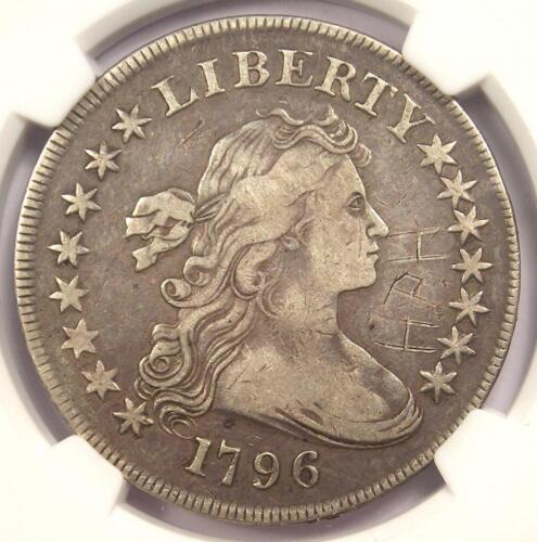 1796 Small Eagle Draped Bust Silver Dollar $1 Coin - Certified NGC VF Detail!