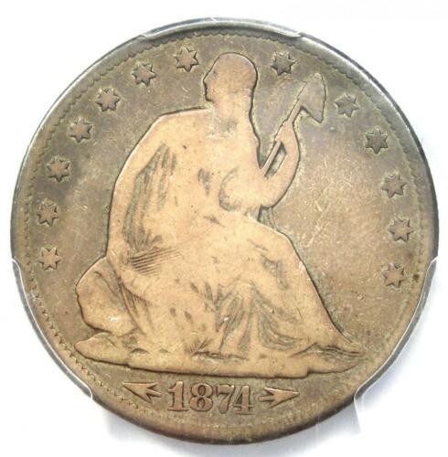 1874-CC Arrows Seated Liberty Half Dollar 50C Coin - PCGS VG8 - $2,150 Value!