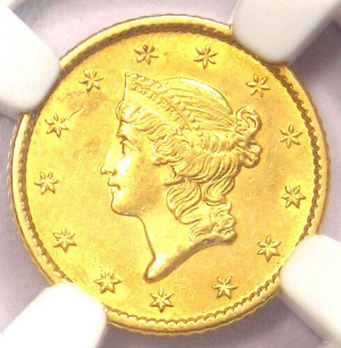 1850-O Liberty Gold Dollar Coin G$1 - NGC Uncirculated Detail - Rare MS UNC Coin