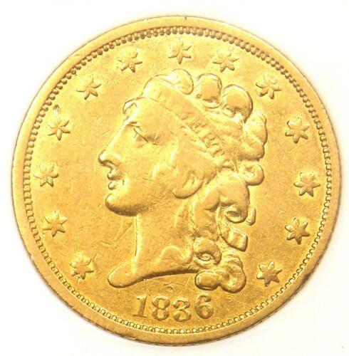 1836 Classic Gold Quarter Eagle $2.50 - Certified ANACS VF30 - Rare Coin!