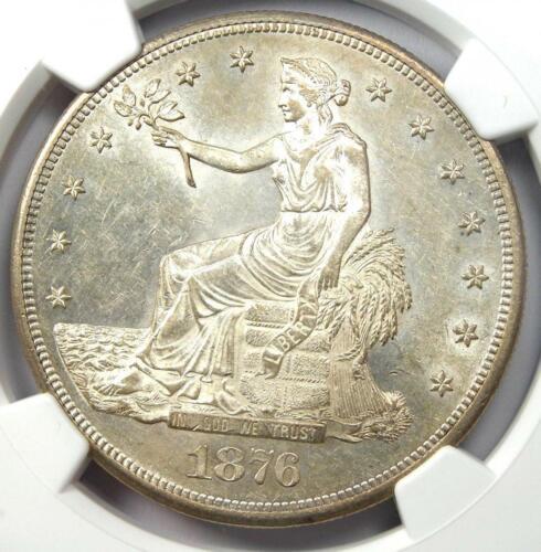 1876-CC Trade Silver Dollar T$1 Coin - NGC MS61 (UNC BU) - $8,700 Value!