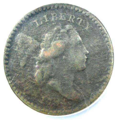 1794 Liberty Cap Flowing Hair Half Cent 1/2C - NGC VF Detail - Rare Coin!