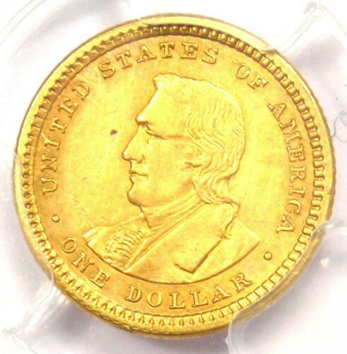 1904 Lewis & Clark Gold Dollar G$1 - Certified PCGS AU Detail - Rare Coin!