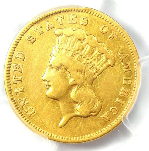 1856-S Three Dollar Indian Gold Coin $3 - Certified PCGS XF Details - Rare Date!