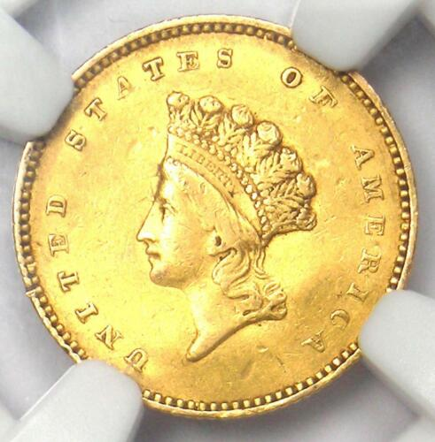 1854 Type 2 Indian Gold Dollar (G$1 Coin) - NGC XF Details - Rare Type Two!
