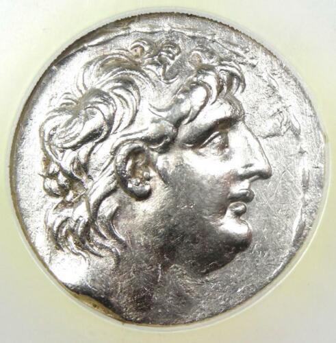 Syria Antiochus VII AR Tetradrachm Bible Coin 138-129 BC (Athena, Nike) - NGC AU