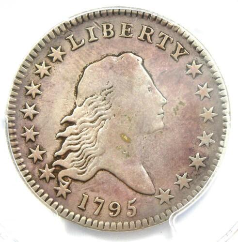 1795 Flowing Hair Bust Half Dollar 50C - Certified PCGS VF Detail - Rare Coin!