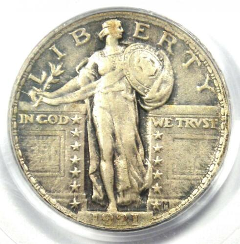 1921 Standing Liberty Quarter 25C Coin - Certified PCGS XF40 (EF40) - Rare Date!