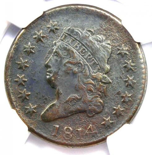 1814 Classic Liberty Head Large Cent 1C S-295 - NGC VF Detail - Rare Date!