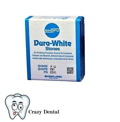 Dental Shofu Dura-white Fg Cn1 Pointed Cone Finishing Stones 12pack 0241