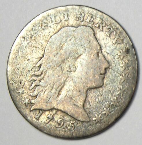 1795 Flowing Hair Half Dime H10C - Fine Details - Rare Type Coin!