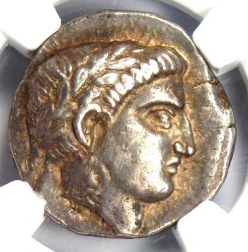 Paeonia Patraus AR Tetradrachm Silver Apollo Coin 335-315 BC. NGC Choice XF (EF)