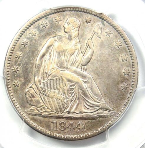 1844 Seated Liberty Half Dollar 50C - Certified PCGS XF Details - Rare Coin!