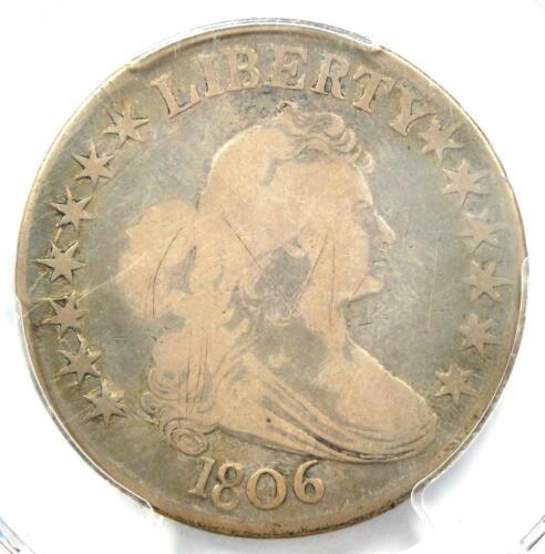 1806 Draped Bust Half Dollar 50C Coin - Certified PCGS VG Details!