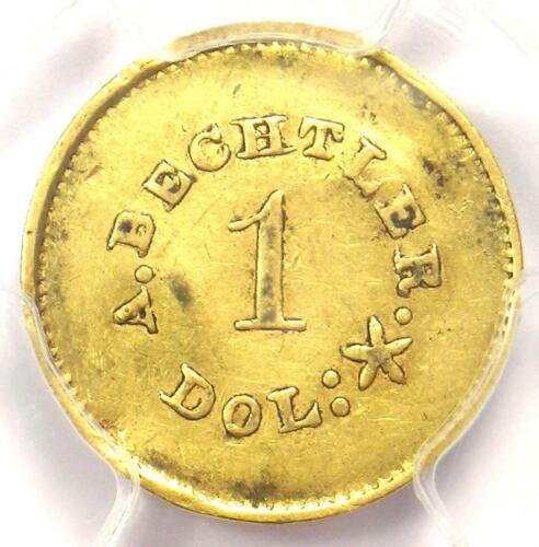 1842-50 A. Bechtler Carolina Gold Dollar G$1 27 gr - PCGS AU Detail - Rare Coin!