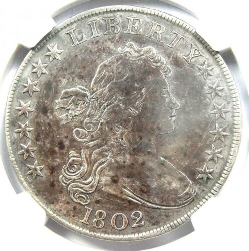 1802 Draped Bust Silver Dollar $1 Coin - Certified NGC VF Details - Rare!