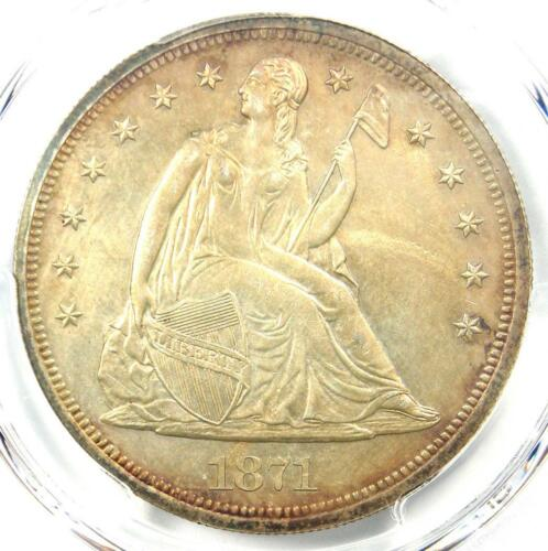 1871 PROOF Seated Liberty Silver Dollar $1 Coin - PCGS Proof Details (PR/PF)!
