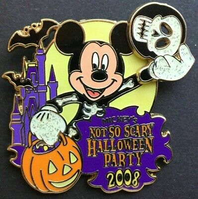 WDW Mickeys Not So Scary Halloween Party 2008 - Logo Mickey Mouse Mask - Mickey Mouse Not So Scary Halloween Party