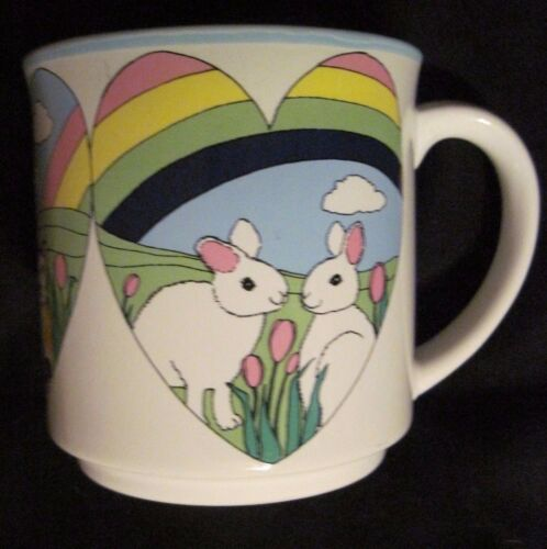 Audrey Christie Coffee Mug /  Cats, Rabbits, Swans Recycled Paper Japan