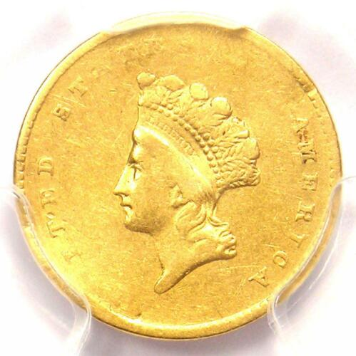1855 Type 2 Indian Gold Dollar (G$1 Coin) - PCGS XF Details - Rare Type Two!