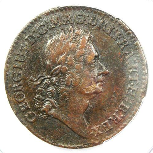 1722 Rosa Americana Twopence 2Pence Colonial Coin with Period - PCGS VF Details