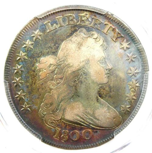 1800 Draped Bust Silver Dollar $1 - Certified PCGS Fine Details - Looks VF!