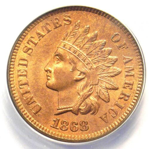 1868 Indian Cent 1C Doubled Die Obverse DDO FS-101 - ANACS MS60 Detail (UNC)!