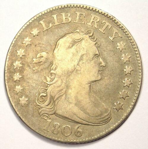 1806 Draped Bust Quarter 25C Coin - Very Fine Detail (VF) - Rare Early Date Coin