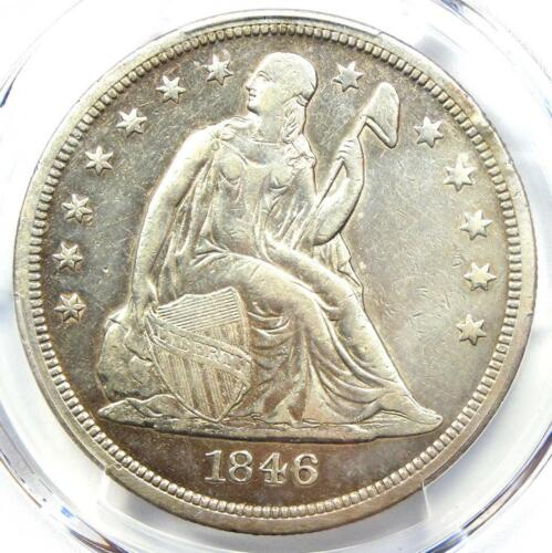 1846-O Seated Liberty Silver Dollar $1 - PCGS XF Details (EF) - Rare Date Coin!