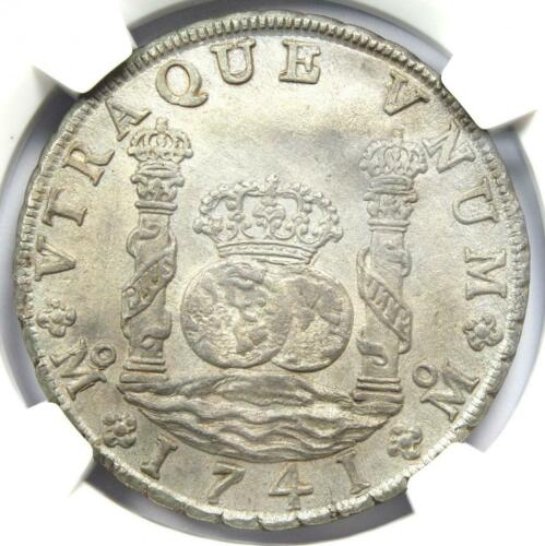 1741 Mexico Pillar Dollar 8 Reales Coin (8R) - NGC Uncirculated Details (UNC MS)