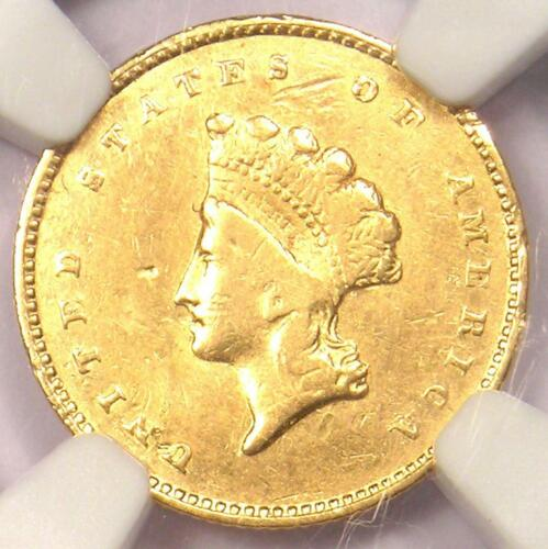 "1856-S Indian Gold Dollar (G$1 Coin) - Certified NGC XF Detail - Rare ""S"" Mint!"