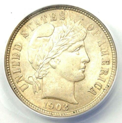 1903-O Barber Dime 10C - ANACS MS60 Details (UNC) - Good Luster - Rare Coin!