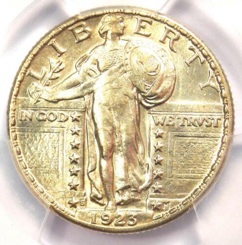 1923-S Standing Liberty Quarter 25C Coin - PCGS Uncirculated Details (UNC MS)!