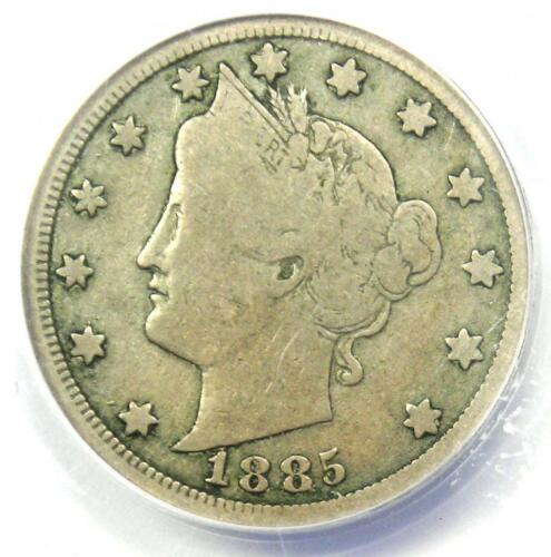 1885 Liberty Nickel 5C - Certified ANACS VG8 - Rare Key Date Coin!