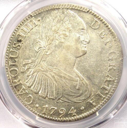 1794-MO FM Mexico Charles IV 8 Reales Coin (8R) - Certified PCGS AU53