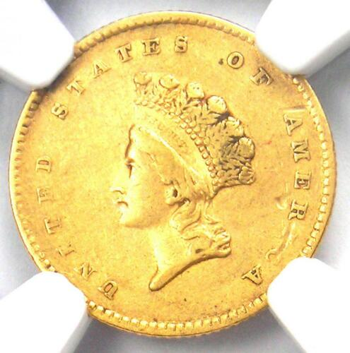 1854 Type 2 Indian Gold Dollar (G$1 Coin) - NGC XF Details (EF) - Rare Type Two!