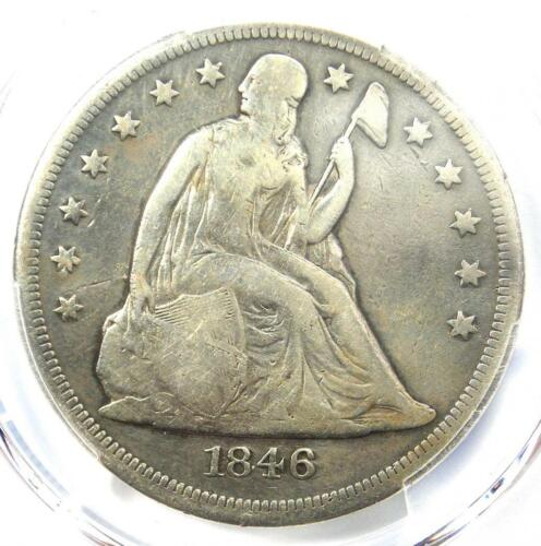 1846-O Seated Liberty Silver Dollar $1 - PCGS Fine Details - Rare Date Coin!