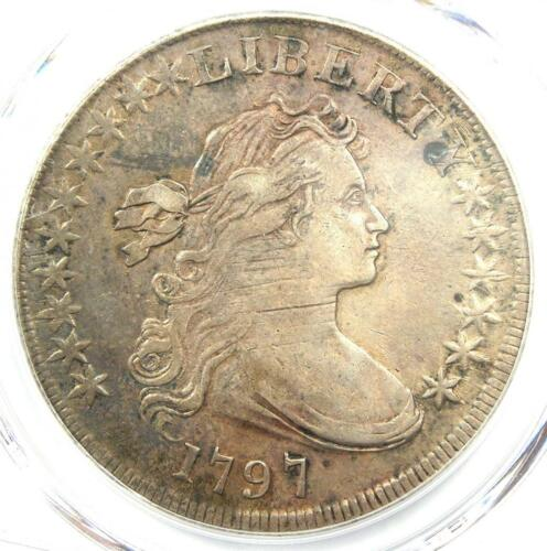 1797 Draped Bust Small Eagle Silver Dollar $1 - PCGS XF Detail (EF) - Rare Coin!