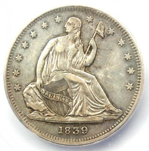 1839 No Drapery Seated Liberty Half Dollar 50C - ICG XF45 (EF45) - $2,400 Value!